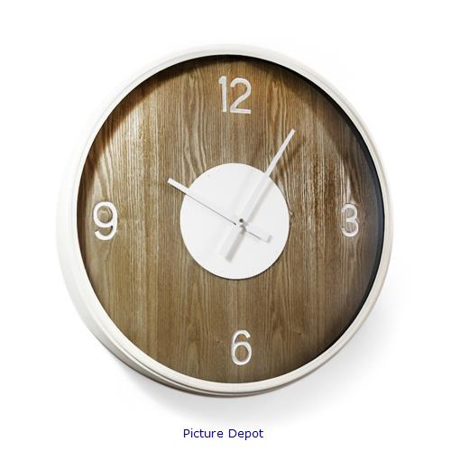 Picture of Metal & MDF Wall Brown Clock    WCL72