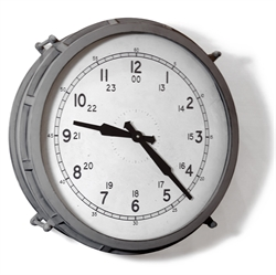 Picture of Gray Round Metal Wall Clock  WCL25
