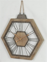 Picture of Hexagon Wooden Hanging Rope  CL70008