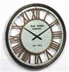Picture of See Through Round Metal Clock   CL70015